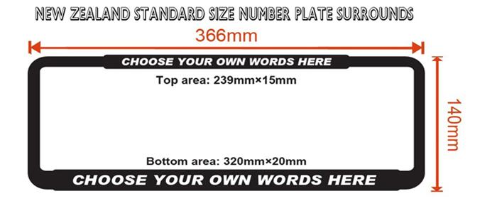 Personalised Number Plate Frames (Black)