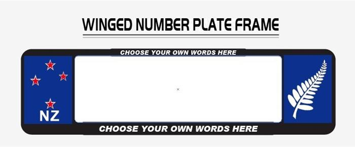 NZ Standard Winged Number Plate Surrounds