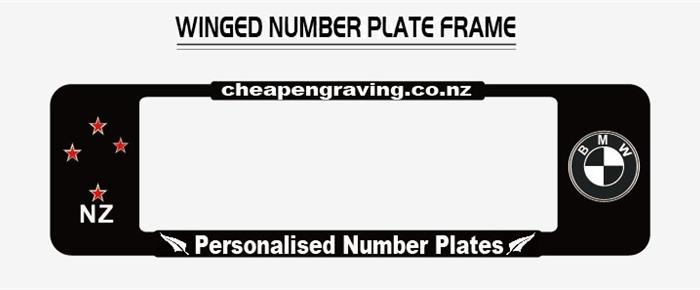 NZ Car Logo Winged Number Plate Surrounds