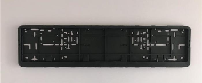 Black ABS Number Plate Surround for European Size